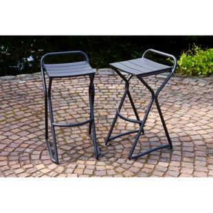 LECO 2er Hocker-Set zur Gartentheke