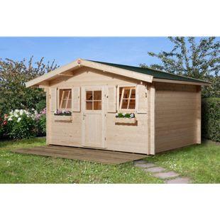 Weka Gartenhaus 138, 45mm, mit 60cm Vordach