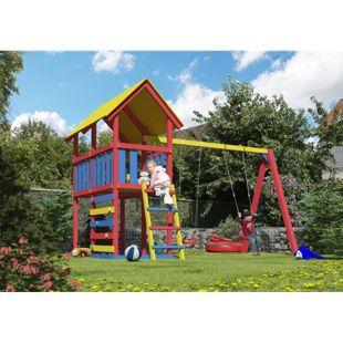 Akubi Spielturm Danny Set L mit Farbpaket