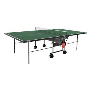 Sponeta Outdoor Tischtennisplatte mit Schlägerset und Abdeckhülle grün