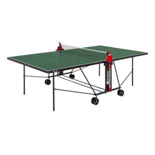 Sponeta S-42e Tischtennisplatte Outdoor mit Schlägerset und Abdeckhülle grün