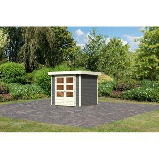 Woodfeeling Askola 2 Gartenhaus, terragrau