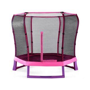 Plum 213cm Junior Jumper Springsafe Trampoline mit Sicherheitsnetz Pink/Lila