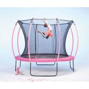 Plum 305cm Colours Springsafe Trampolin mit Sicherheitsnetz - Flamingo Pink/Tropic Türkis