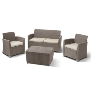 Allibert Lounge Set Corona 4-teilig cappuccino
