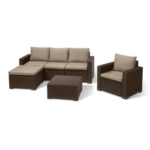 Allibert Lounge Set MOOREA braun