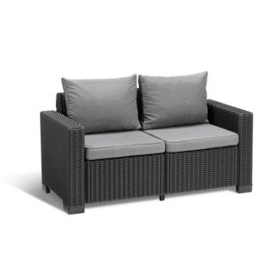 Allibert Sofa CALIFORNIA 2-sitzer anthrazit