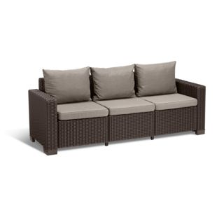Allibert Sofa CALIFORNIA 3-sitzer braun