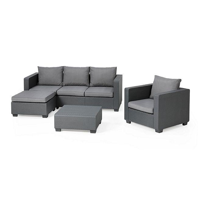 Allibert Lounge Set Malibu anthrazit online kaufen | GartenXXL.de