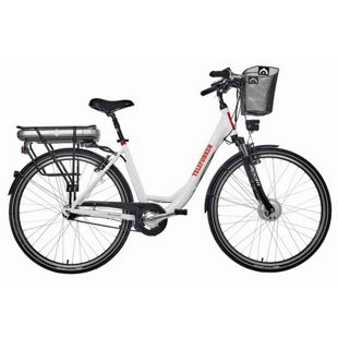 "Telefunken RC657 Multitalent Alu-E-Bike City 28"" 7-Gang Shimano Nexus weiß"