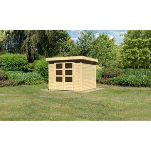 Woodfeeling Askola 3,5 Gartenhaus naturbelassen