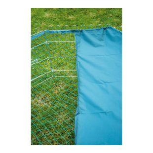 8-eckiges Nylon-Schutznetz für Kleintier-Freigehege, 135 x 135 cm Abdeckung mit Sonnenschutz, grün