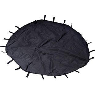 Dobar 8-eckige Nylon-Unterlage für Kleintier-Freigehege, 135 x 135 cm großer Abdeckboden mit Schlaufen in schwarz