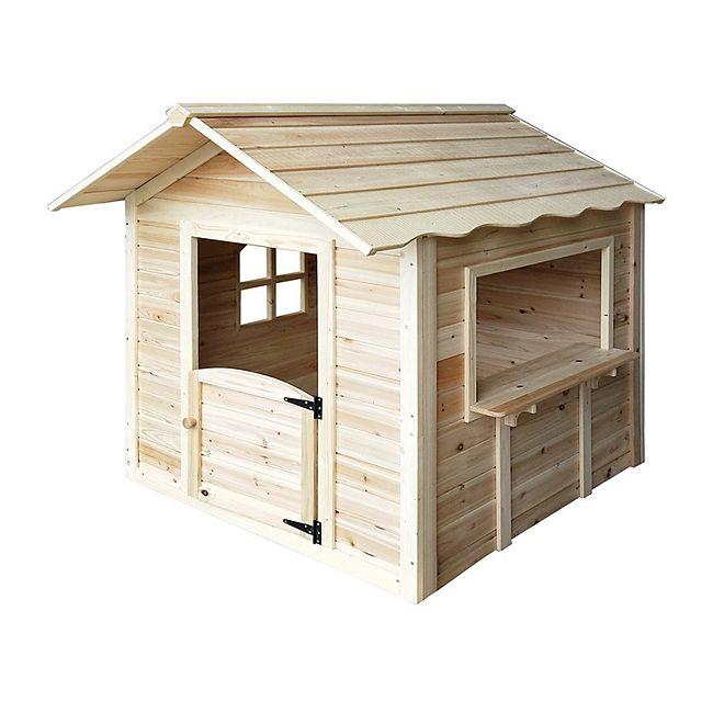 home deluxe spielhaus der gro e palast natur ohne bank. Black Bedroom Furniture Sets. Home Design Ideas