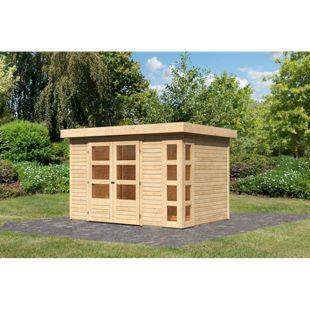 Woodfeeling Gartenhaus Kerko 4, 19 mm naturbelassen