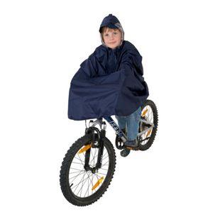 Regenponcho blau, Gr. M für Kinder