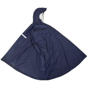 Regenponcho blau, Gr. M mit integrierter Gürteltasche