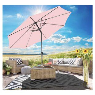 Gartenfreude Sonnenschirm 270 cm, hellrosa