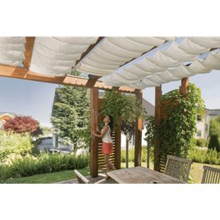 Windhager Seilspann-Sonnensegel 420 x 140 cm, weiß