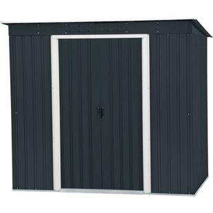 Tepro Metallgerätehaus Pent Roof anthrazit 6x4