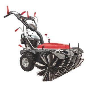 Scheppach SC2200PE Kehrmaschine mit Sammelbehälter & Schneeschild