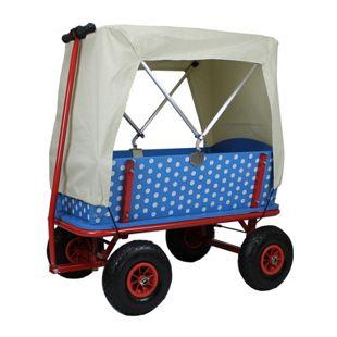 "Bollerwagen ""Beachtrekker Style"" + Faltdeck, ""Blaubeere"""