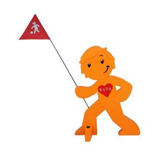 """Streetbuddy Warnfigur """"Spielende Kinder"""", Orange"""