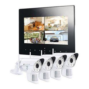 VisorTech DSC-720.mc Funk Überwachungs-Set mit 4 LED-HD-Kameras + Monitor