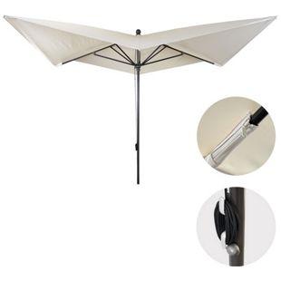 Luxus-Sonnenschirm MCW-A37, Marktschirm Gartenschirm, 3x3m (Ø4,24m) Polyester/Alu 10kg ~ creme ohne Ständer