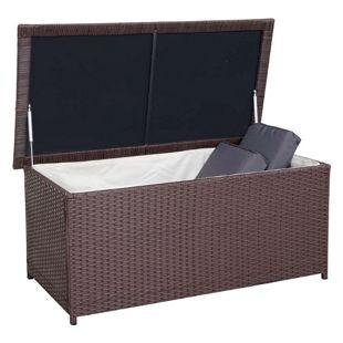 Poly-Rattan Kissenbox MCW-D43, Truhe Auflagenbox Gartentruhe, 51x115x58cm 220l ~ braun
