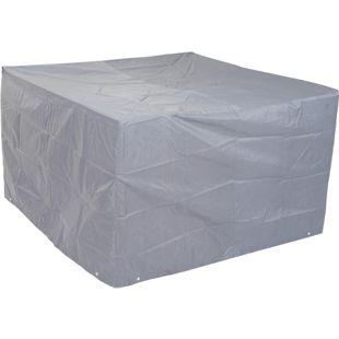 Abdeckhaube Abdeckplane Schutzhülle Schutzplane für Sitzgruppen, grau ~ 75x120x120cm