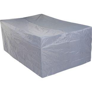 Abdeckhaube Abdeckplane Schutzhülle Schutzplane für Sitzgruppen, grau ~ 75x180x120cm
