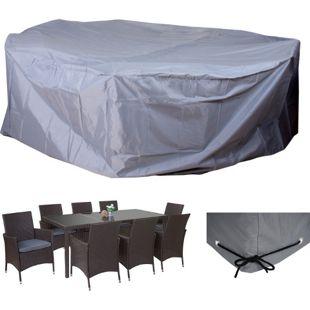 Abdeckplane Abdeckhaube Schutzhülle Schutzplane für Garnituren, grau Ø300cm