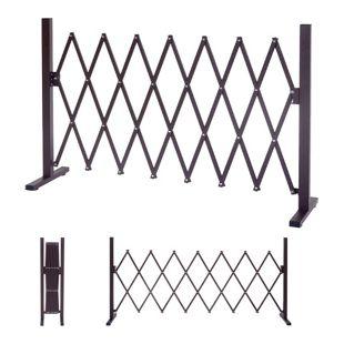 Absperrgitter MCW-B34, Scherengitter Rankhilfe Tierschutzgitter ausziehbar, Alu braun ~ Höhe 103cm, Breite 27-207cm
