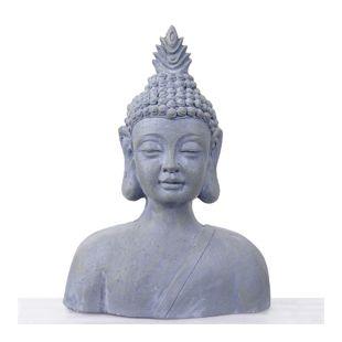 XXL Deko Buddha 60cm, Figur Polyresin Skulptur Büste, In-/Outdoor