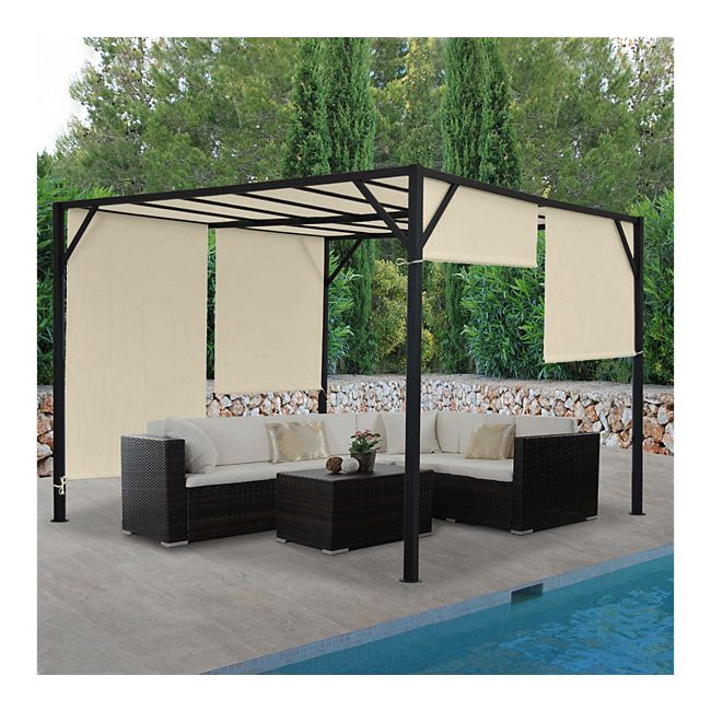 Bekannt Pergola Beja, Garten Pavillon Terrassenüberdachung, stabiles 6cm VU16