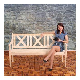 Gartenbank Bank Parkbank Mazara 3-Sitzer 160 cm Holz Gastroqualität ~ natur