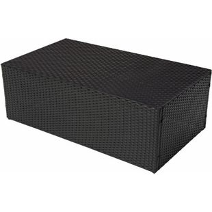 Modulares Poly-Rattan Sofa RomV 39x110x58cm ~ anthrazit, Couchtisch ohne Glasplatte