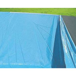 Pool-Innenhülle Innenplane Schwimmbadfolie, Stärke 0,5mm ~ Ø 4,57m x 1,32m