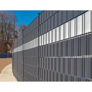 Home Deluxe PVC-Sichtschutz-Zaunfolie 35 m, dunkelgrau