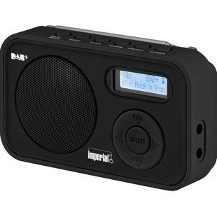 Imperial DABMAN 12 portables Einstiegs DAB+/UKW Radio, schwarz