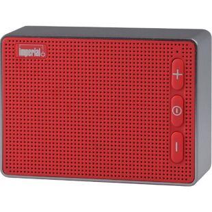 IMPERIAL BAS 2 Kompakter Bluetooth 4.2-Audio-Speaker, rot