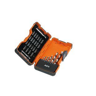 AEG HSS-G Metallbohrer + Bit-Set, 35-teilig