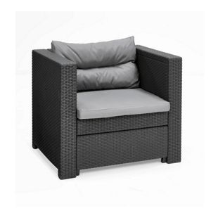 Allibert Lounge Riviera Balkonset, 2 x Sessel und Tisch Victoria small, anthrazit
