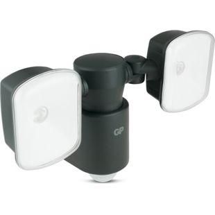 GP Lighting SafeGuard RF 4 LED-Außenleuchte mit Bewegungsmelder, zwei Strahler
