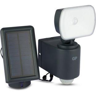 GP Lighting SafeGuard RF3.1 Hybrid Solar-LED-Außenleuchte mit Bewegungsmelder, ein Strahler