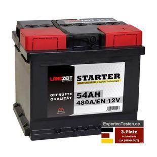 Langzeit 54 Ah 12 V Autobatterie
