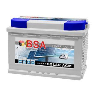 BSA AGM 60 Ah Solar-Wohnmobil-Batterie