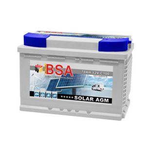 BSA AGM 70 Ah Solar-Wohnmobilbatterie