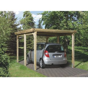 Weka Flachdach Einzelcarport 617 Gr. 1 ohne Dachplatten